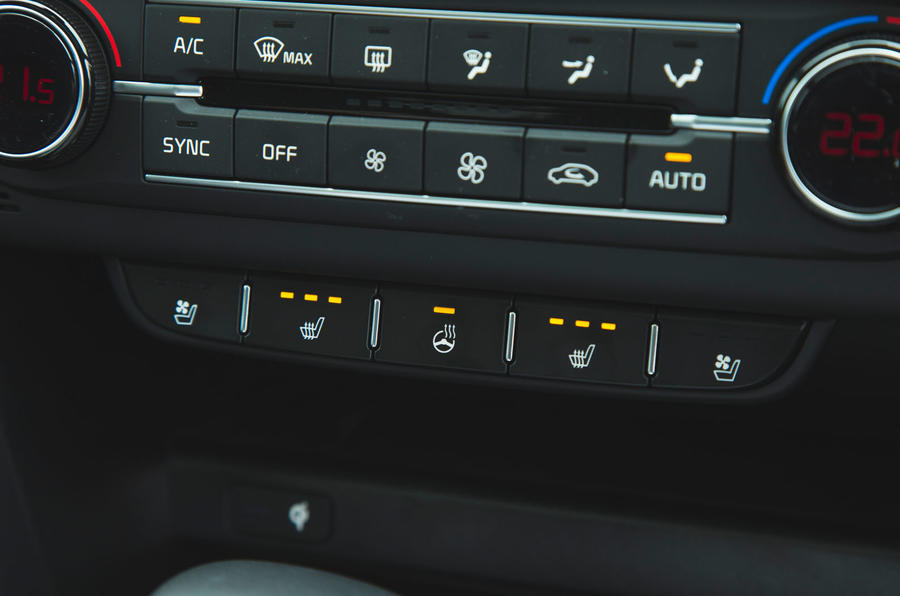 Kia Ceed 2018 long-term review - heated seat controls
