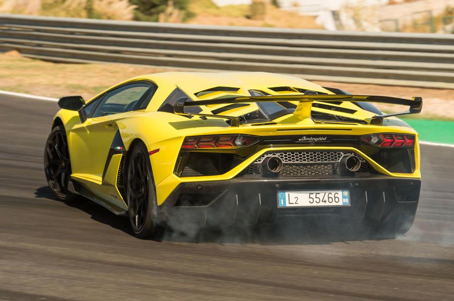 Lamborghini Aventador SVJ 2018 first drive review drift rear