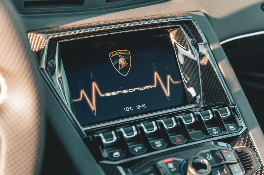 Lamborghini Aventador SVJ Roadster 2019 first drive review - infotainment