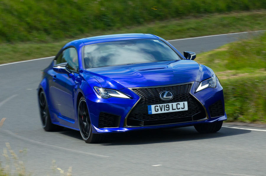 Lexus RC F with track pack 2019 first drive review - cornering front