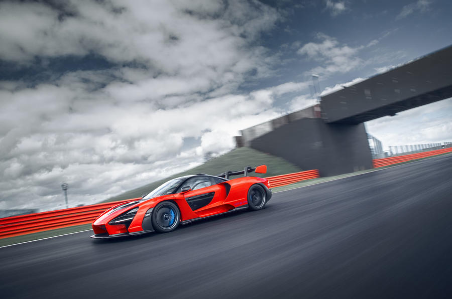 McLaren Senna 2018 UK first drive review on track left