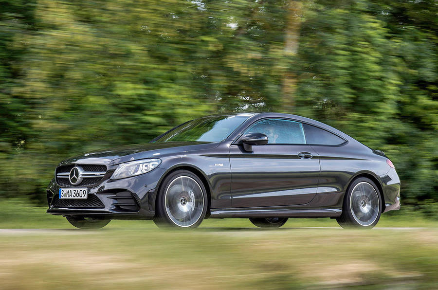 Mercedes-AMG C43 2018 first drive review on the road left