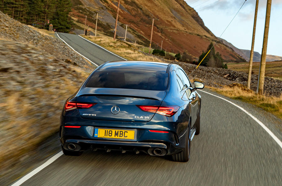 Mercedes-AMG CLA35 2020 UK first drive review - on the road rear