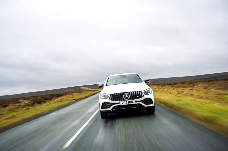 Mercedes-AMG GLC 43 Coupé 2020 UK first drive review - on the road nose