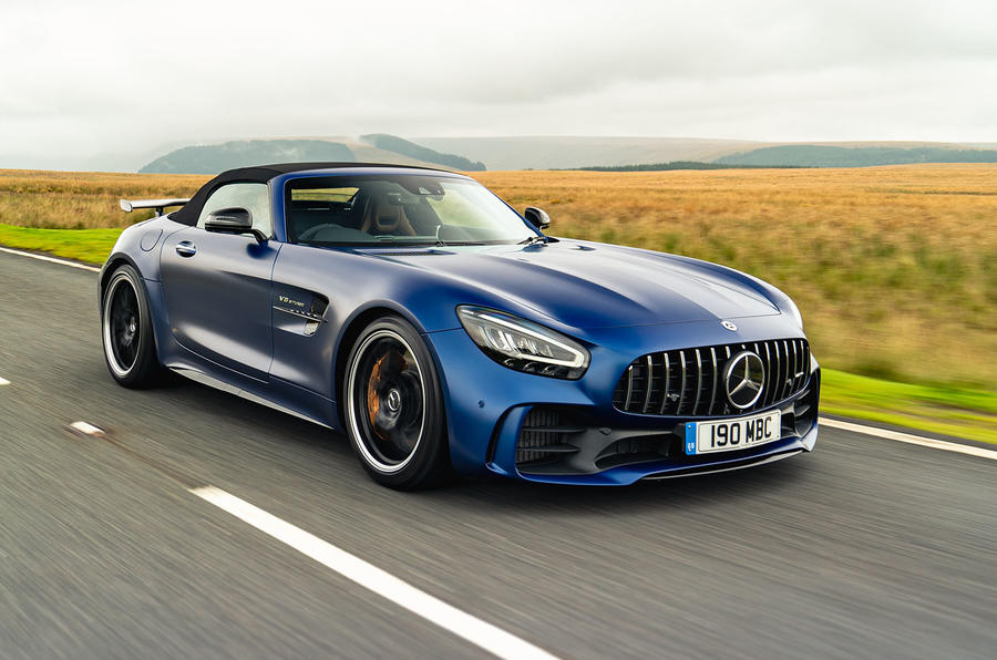Mercedes-AMG GT R Roadster 2019 UK first drive review - on the road roof up