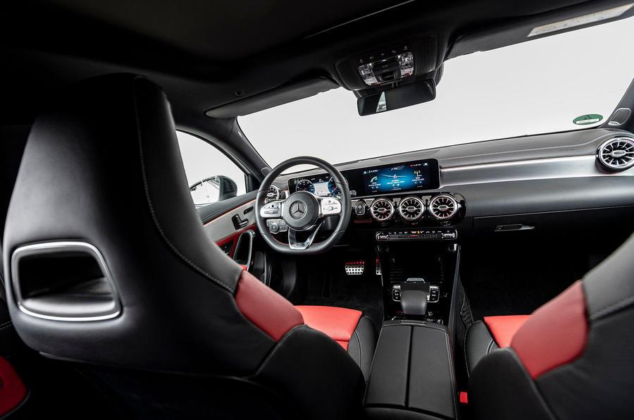 Mercedes-Benz A-Class A180D over driver's shoulder