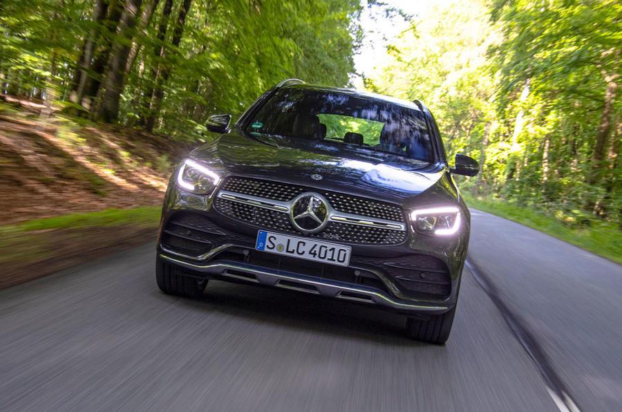 Mercedes-Benz GLC 300d 2019 first drive review - nose