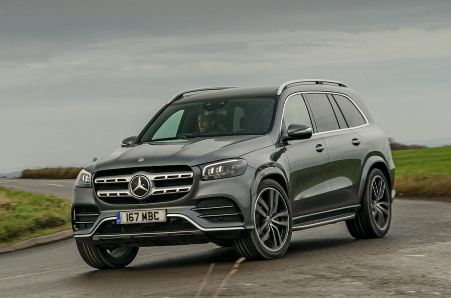 Mercedes-Benz GLS 400d 2019 UK first drive review - cornering front