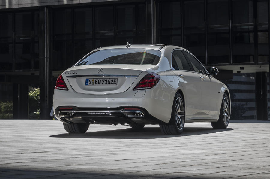 Mercedes-Benz S-Class S560e 2018 first drive review - static rear