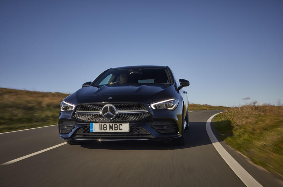 Mercedes-Benz CLA Shooting Brake 220d 2020 UK first drive review - on the road nose