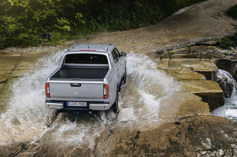 Mercedes-Benz X-Class X350d 2018 first drive review water rear