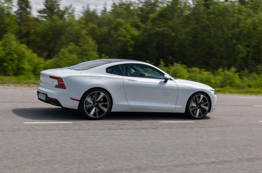 Polestar 1 2019 first drive review - on the road rear