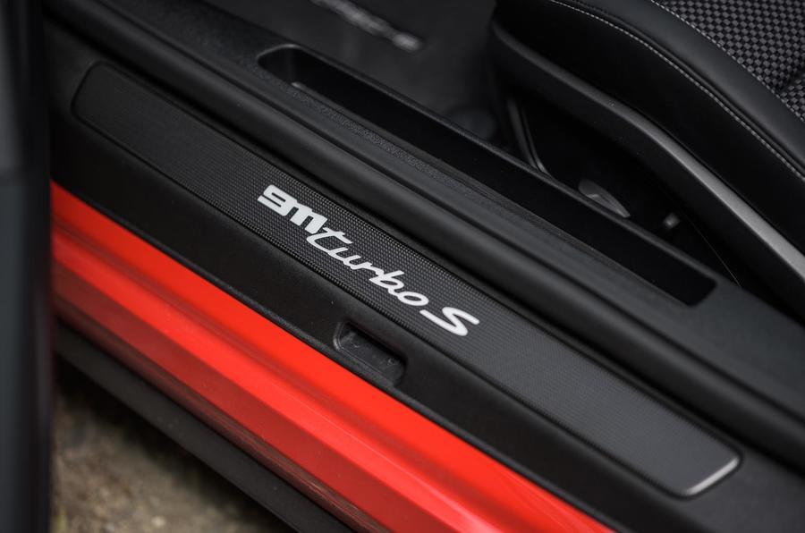 Porsche 911 Turbo S 2020 UK first drive review - kick plates