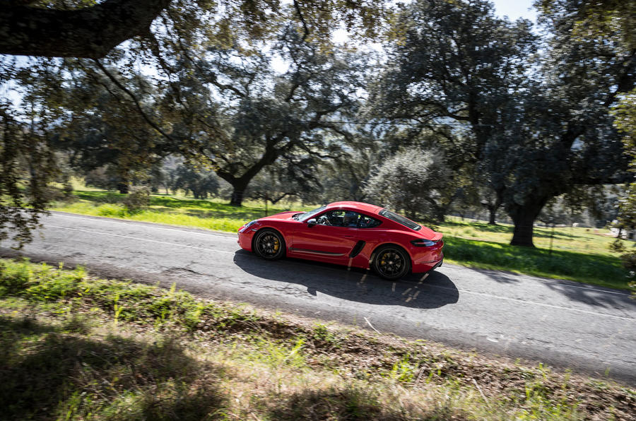 Porsche Cayman T 2019 first drive review - on the road rear
