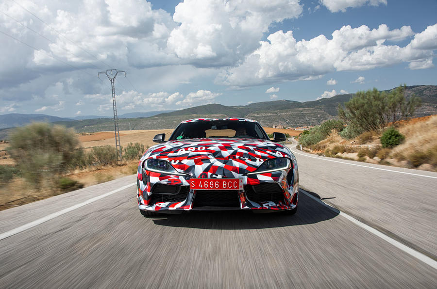 Toyota Supra 2019 prototype first drive review road front
