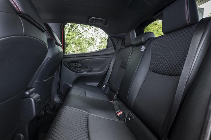 Toyota Yaris hybrid 2020 UK first drive review - rear seats
