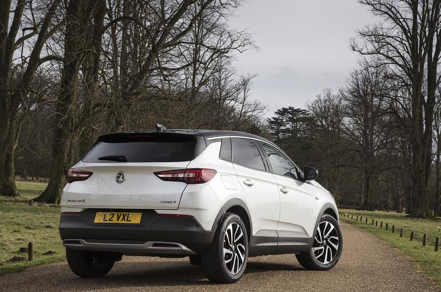 Vauxhall Grandland X Ultimate 2018 UK review static rear