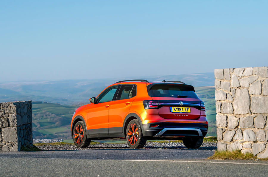 Volkswagen T-Cross 2019 UK first drive review - static rear