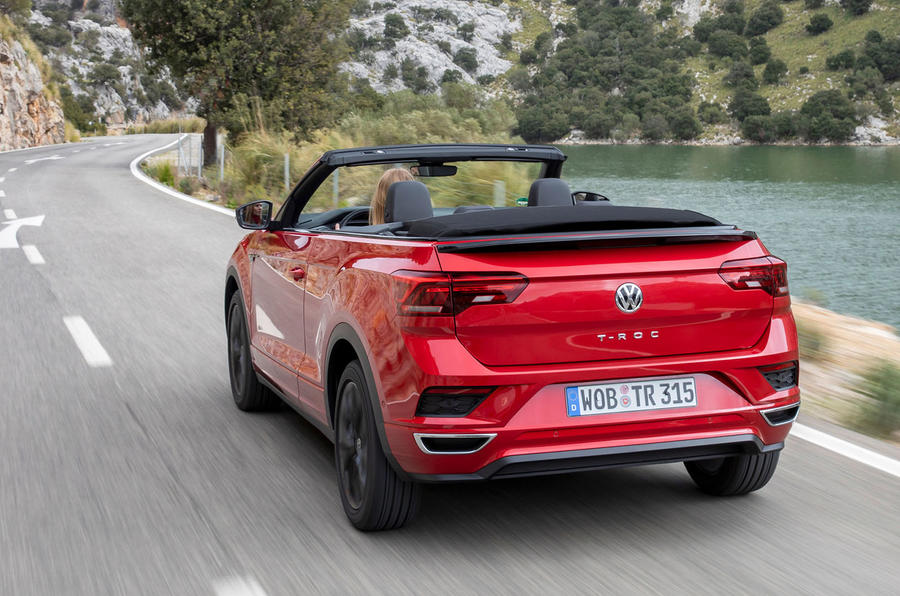 Volkswagen T-Roc Cabriolet 2020 first drive review - on the road rear