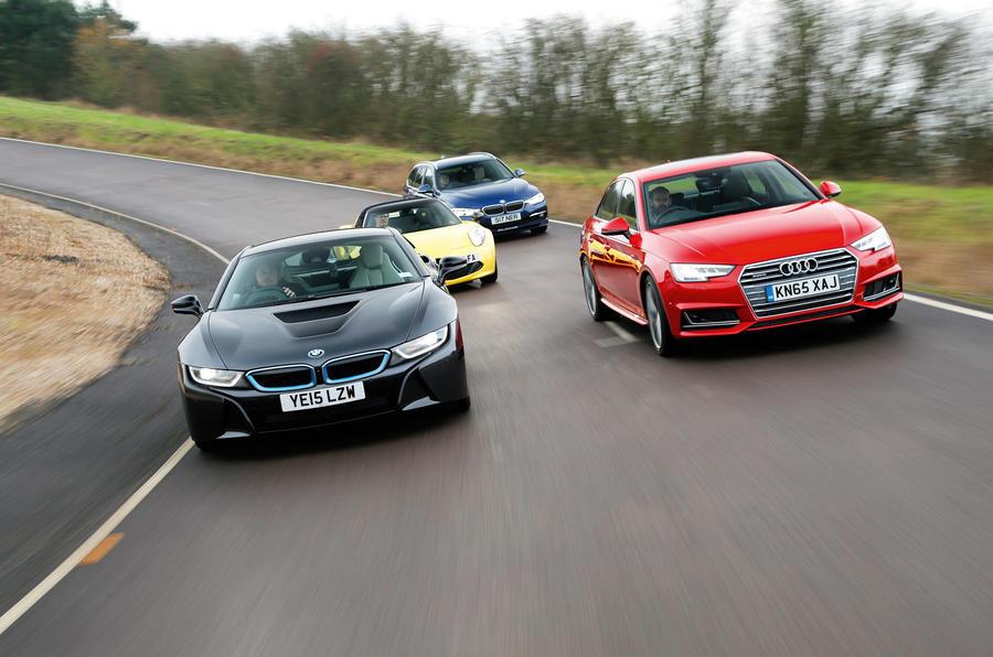 BMW i8, Audi A4, Alfa Romeo 4C Spider, Alpina D3 Biturbo Touring