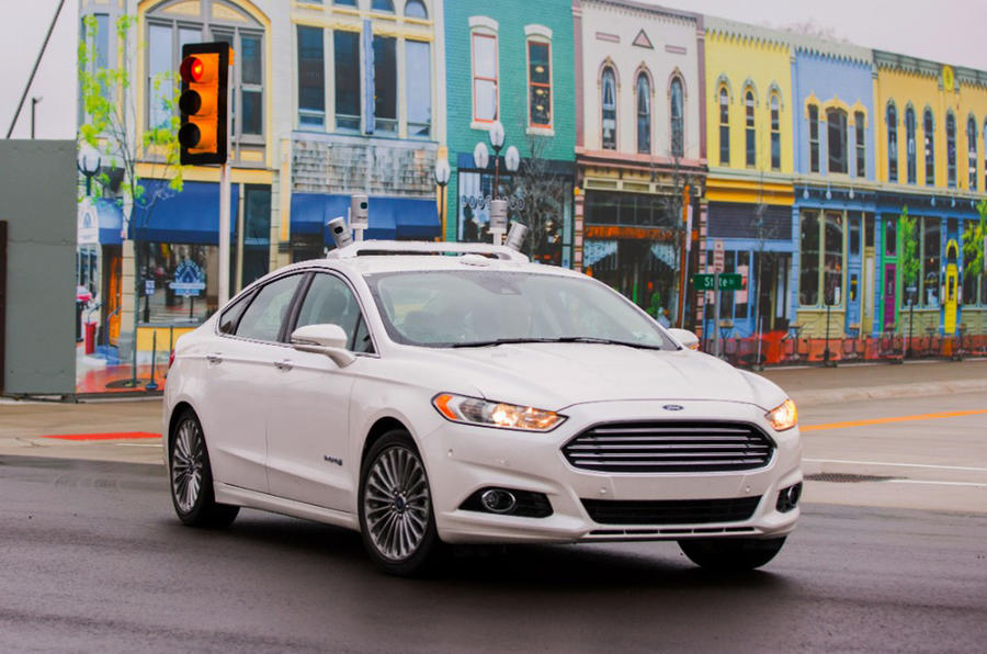Self-driving Ford view 2