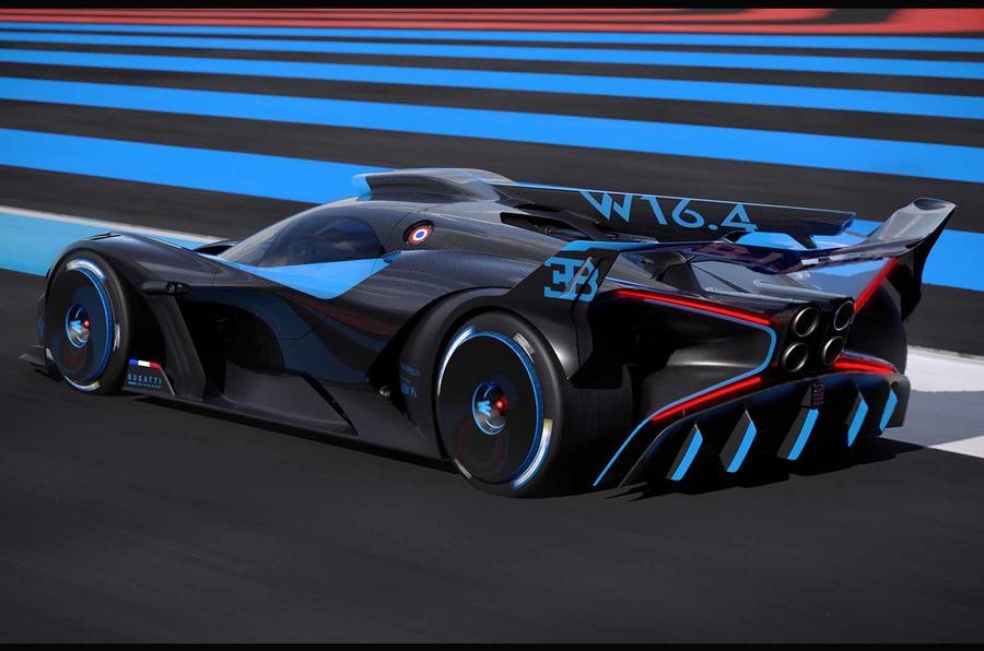 Bugatti Bolide on track rear