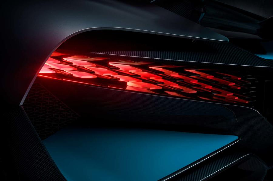 Bugatti Divo rear light