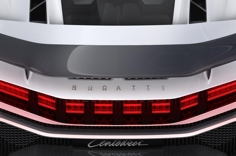 2020 Bugatti Centodieci reveal - rear detail