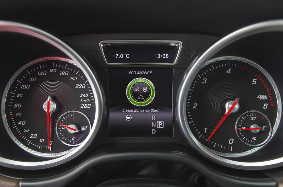 Mercedes-Benz GLS 350 d instrument cluster