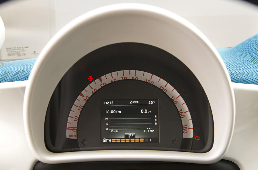 Smart Forfour instrument cluster