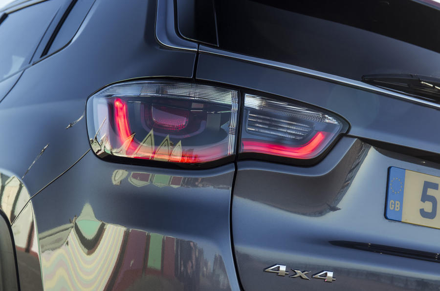 Jeep Compass 2018 UK review rear lights