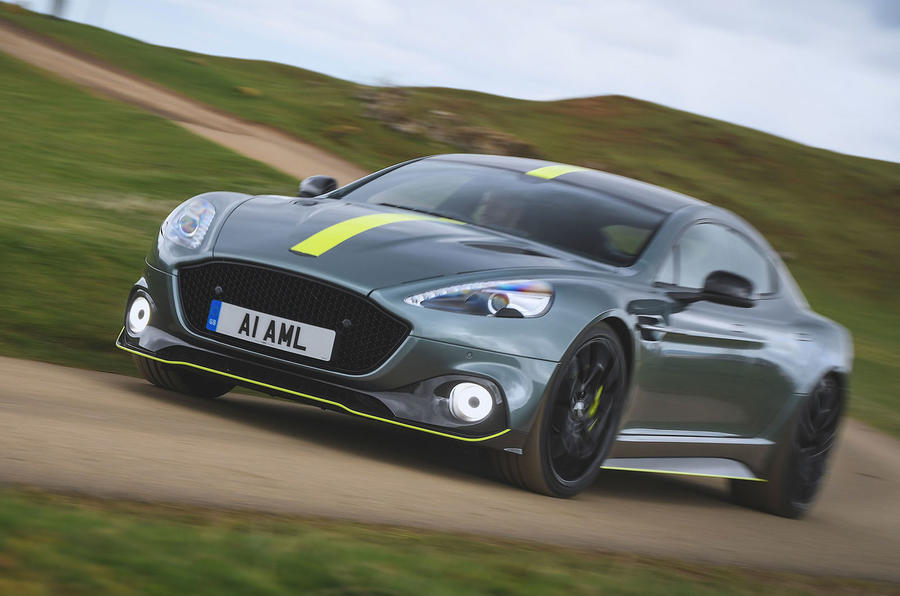 Aston Martin Rapide AMR 2019 UK first drive review - cornering front