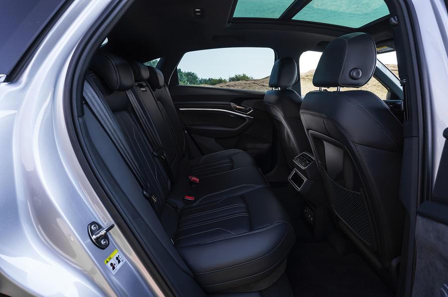 Audi E-tron Sportback 55 2020 UK first drive review - rear seats
