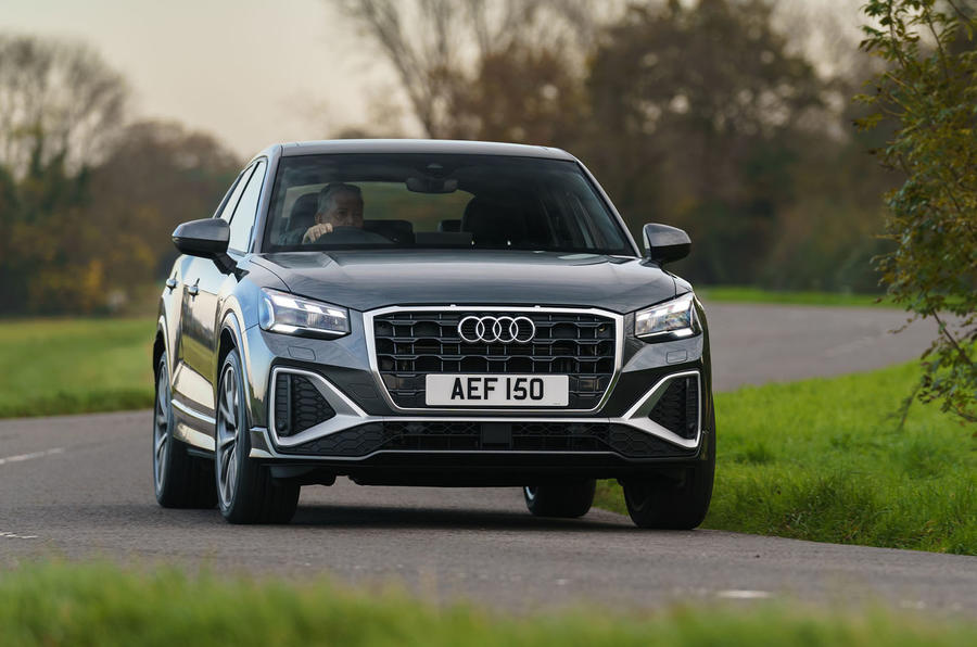 Audi Q2 35 TFSI Sport 2020 UK first drive review - cornering front