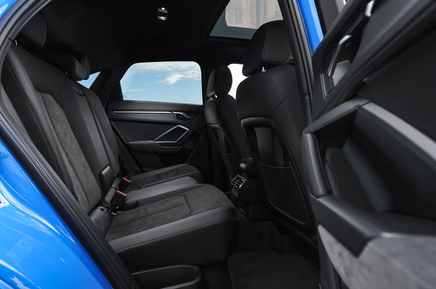 Audi Q3 Sportback 2019 UK first drive review - rear seats
