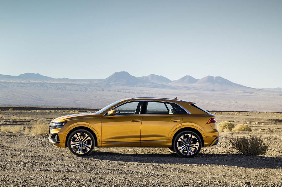 Audi Q8 2018 first drive review static side