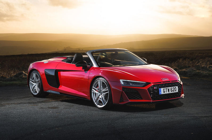 Audi R8 Spyder 2019 UK first drive review - static front