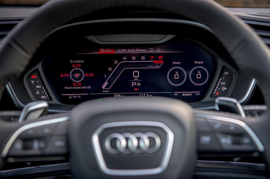 Audi RS Q3 Sportback 2019 UK first drive review - RS mode display