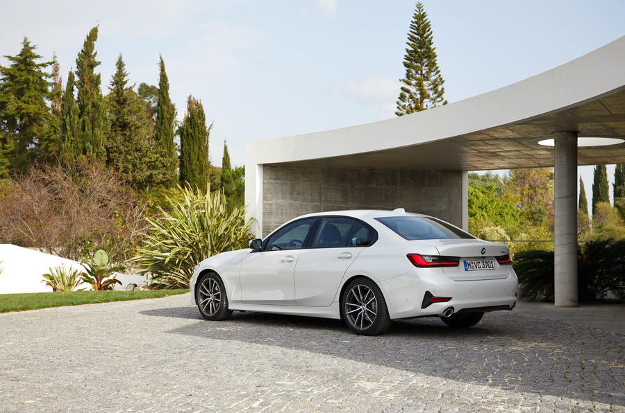 BMW 3 Series 320d Sport Line 2019 first drive review - static rear
