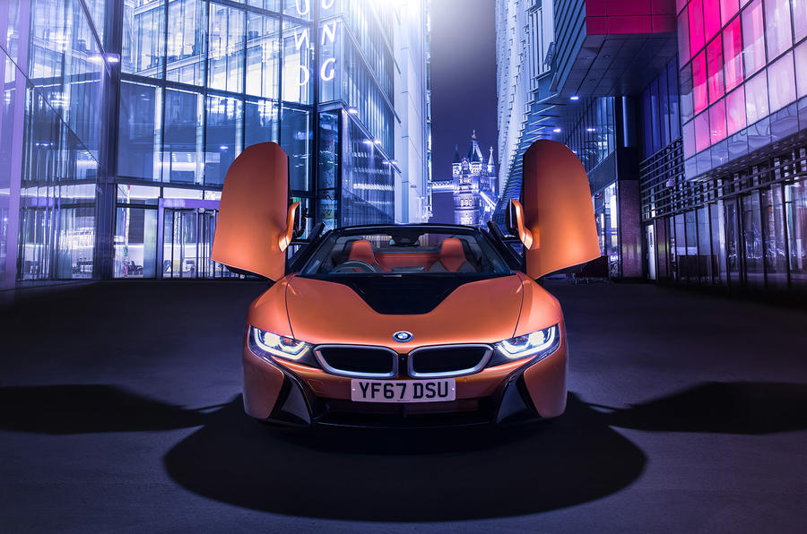 BMW i8 Roadster 2018 UK first drive review - static nose and doors