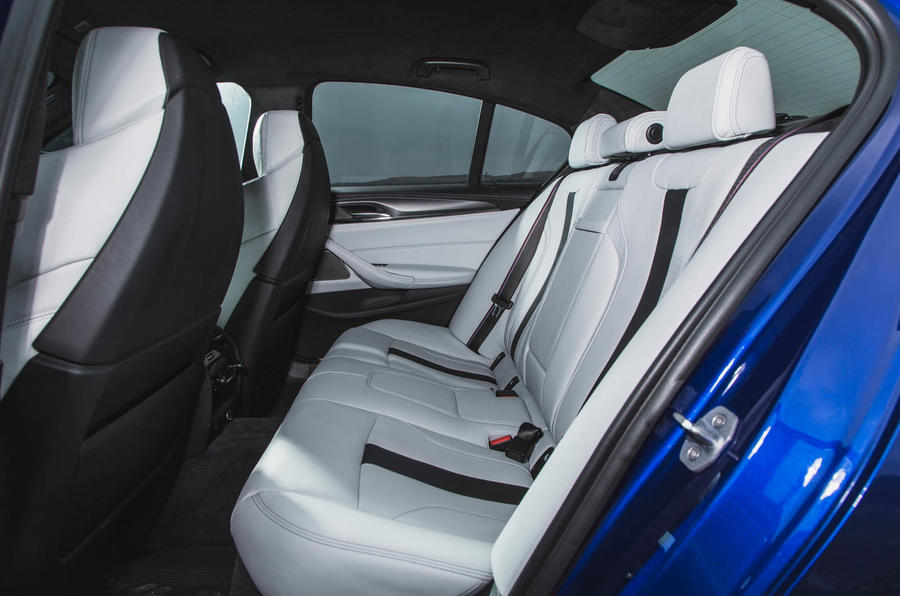 BMW M5 2018 long-term review rear seats