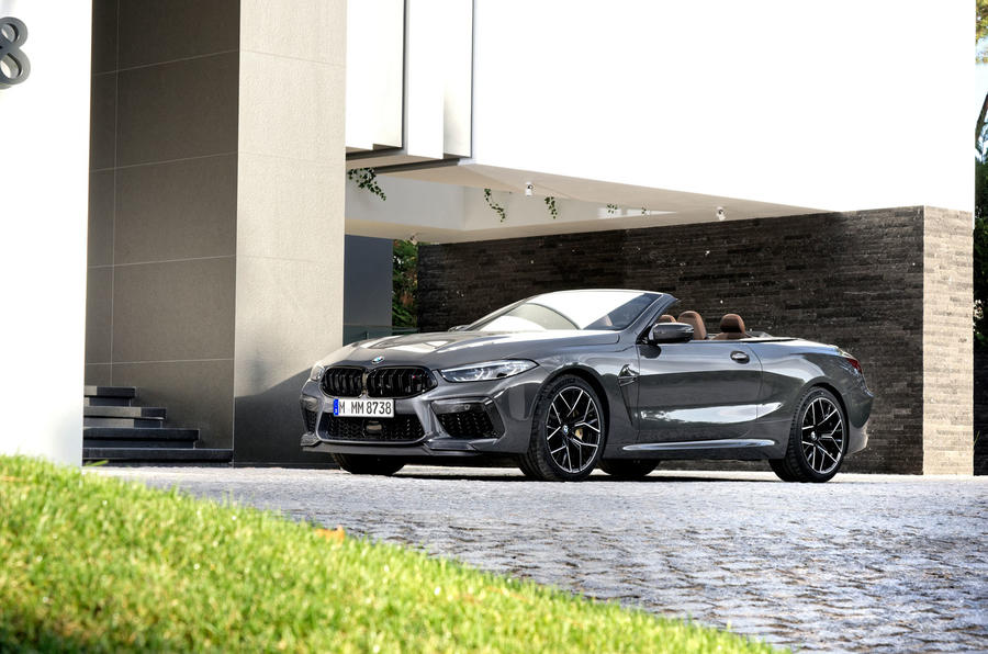 BMW M8 Competition Convertible 2019 first drive review - static front