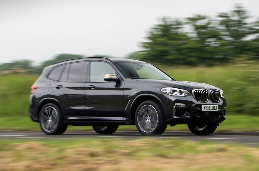 BMW X3 M40i 2018 UK review on the road front