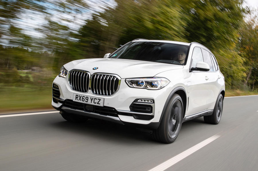 BMW X5 xDrive 45e 2019 UK first drive review - on the road front