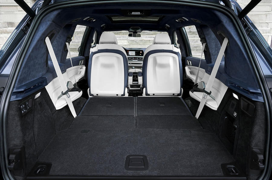 BMW X7 2019 first drive review - boot with seats folded