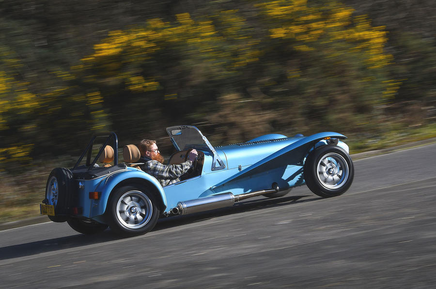 Caterham Super Seven 1600 2020 UK first drive review - on the road side