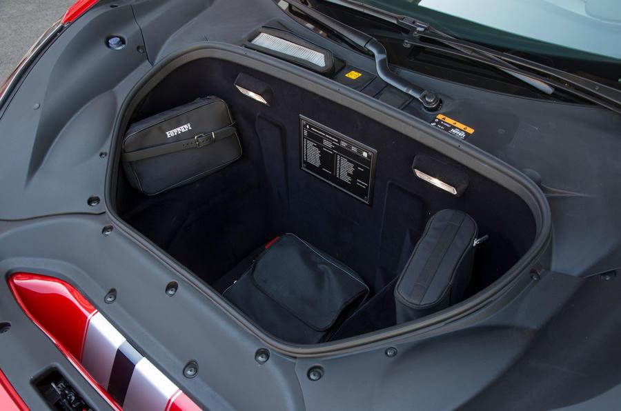 Ferrari 488 Pista 2018 review front storage