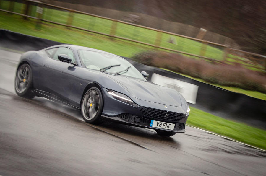 Ferrari Roma 2021 UK first drive review - on the road front