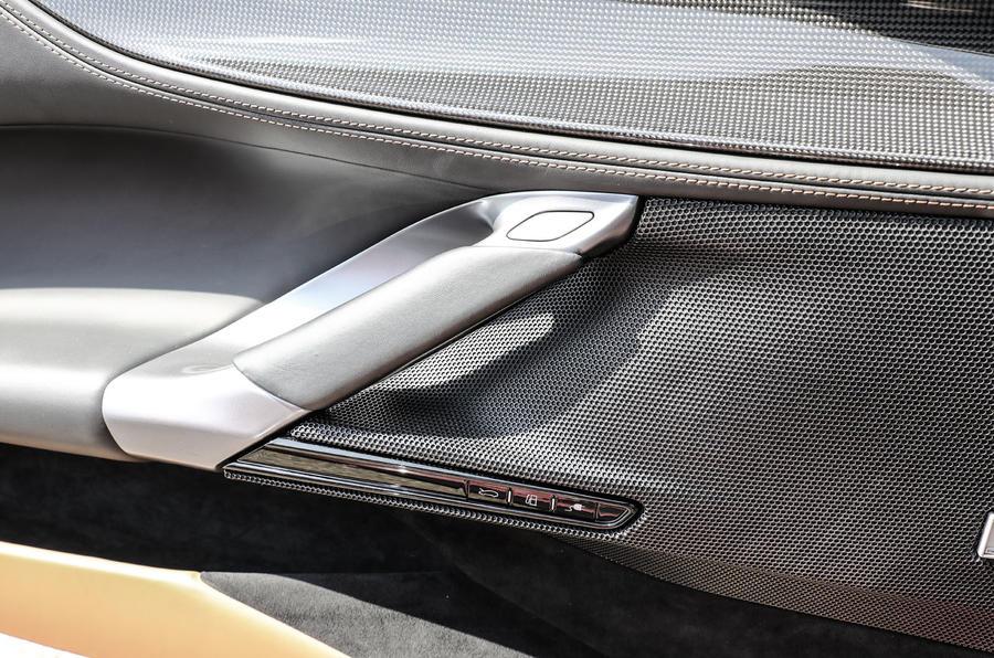 Ferrari SF90 Stradale 2020 first drive review - door card