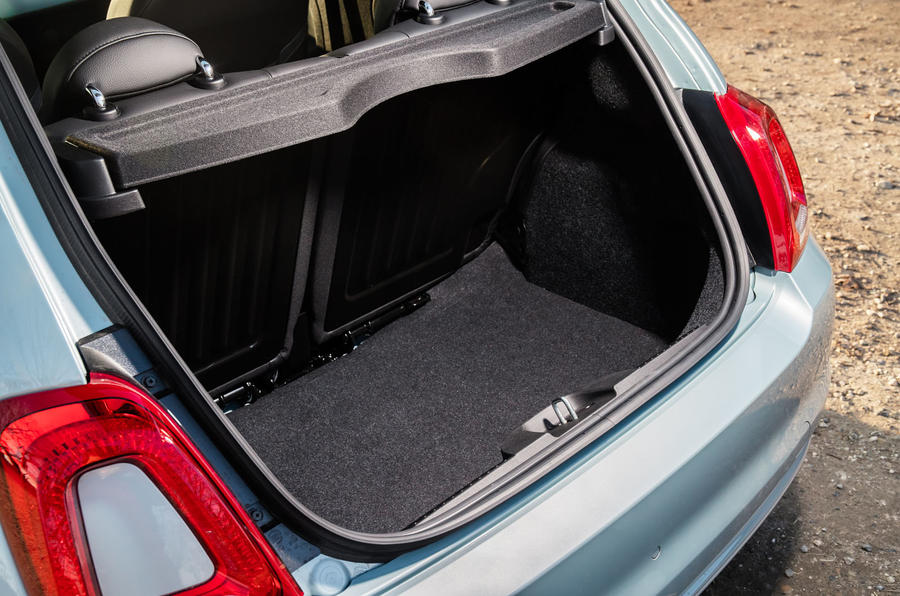 Fiat 500 Hybrid 2020 first drive review - boot
